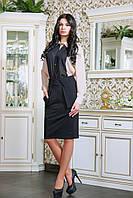 Очень изящная шифоновая блузка классического покроя с рукавом под манжет и английским воротничком. Оригинально