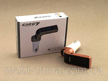 Car G7 FM модулятор автомобильный трансмиттер с Bluetooth, розовый
