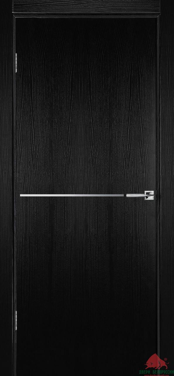Дверь межкомнатная Двери Белоруссии Флэш 6 черный ясень ПГ