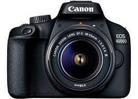 Canon EOS 4000D + объектив 18-55 DC III Black (3011C004)