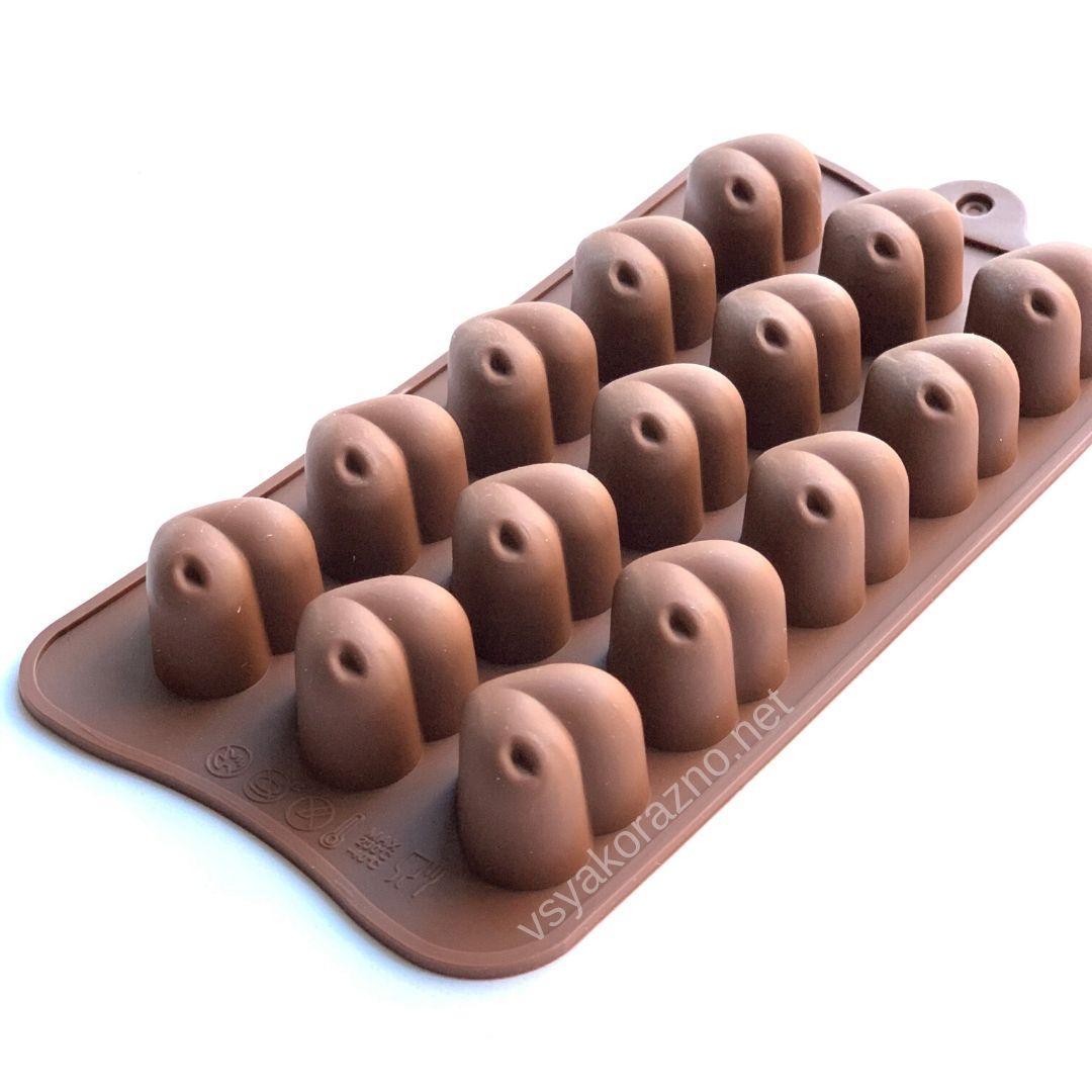 Силиконовая форма для конфет (сердечки)