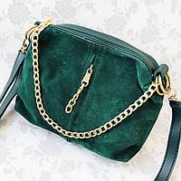 Женская замшевая сумка-клатч, зеленый цвет ( код: IBG179G1 ), фото 1