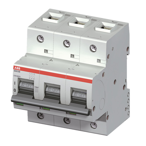 Автоматический выключатель ABB S803B-C80 3п 80A C 16kA