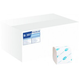 В307 Туалетная бумага в пачке BASIC листовая