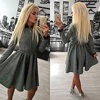 Платье клеш из твида размер 42-60