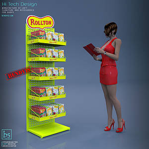 Напольные рекламные стойки для продуктов питания