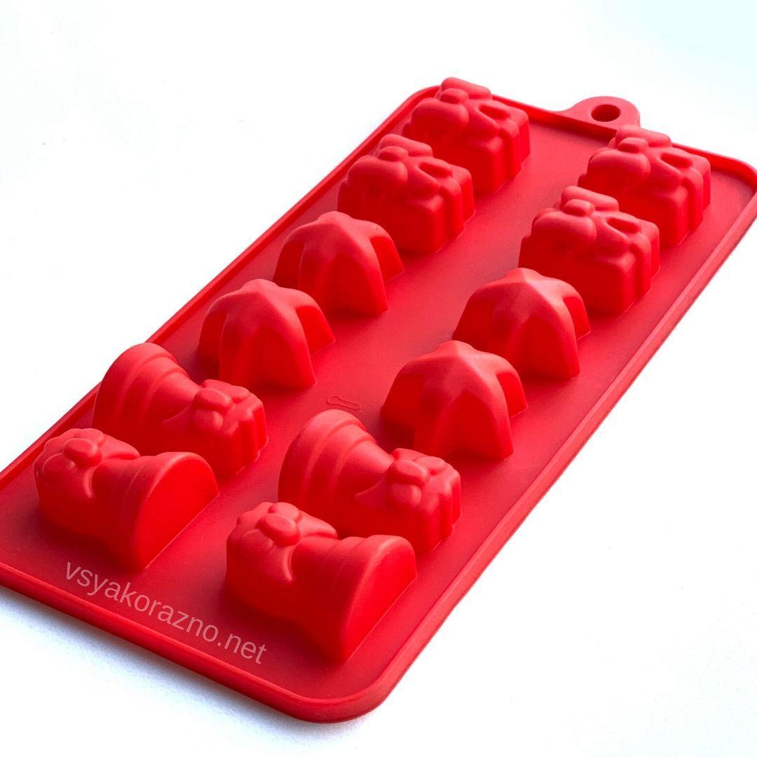 Силиконовая форма для конфет НОВОГОДНИЕ