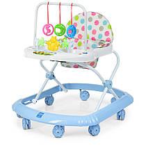 Детские ходунки M 0591-S Голубой с подвесными игрушками Гарантия качества Быстрая доставка