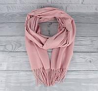 Нежный кашемировый шарф, палантин Cashmere 7480-3 пудра, расцветки, фото 1