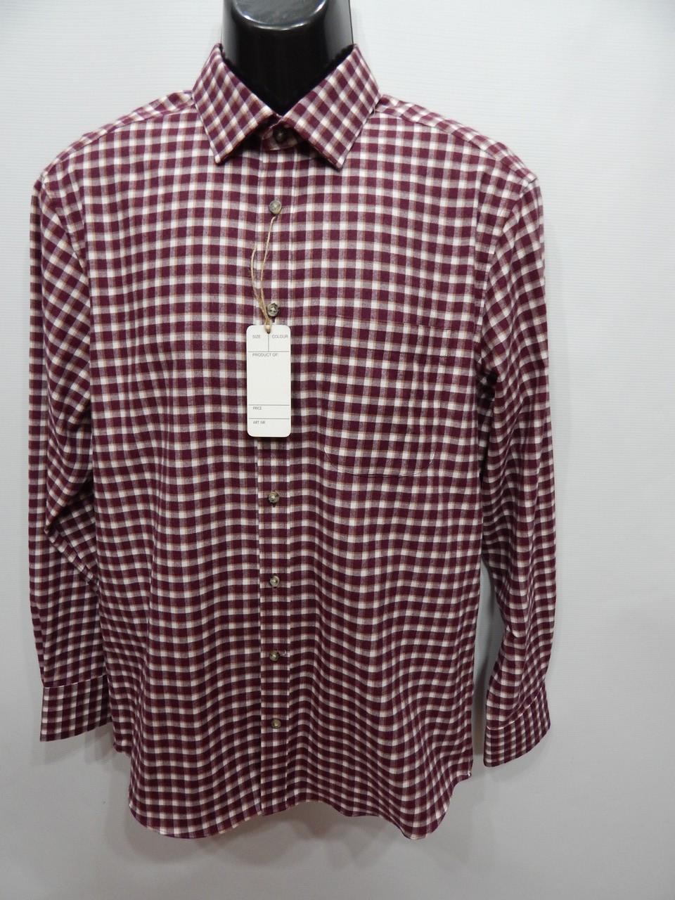 Мужская теплая рубашка с длинным рукавом Marks&Spencer р.48 081RT