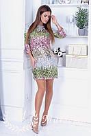 Женское шикарное платье из паетки