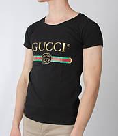 Футболка чёрная Gucci logo | Стильная