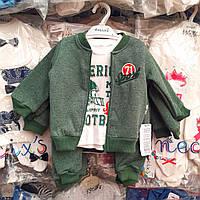 Костюмы с начесом для мальчиков 9, 12, 18 месяцев, фото 1