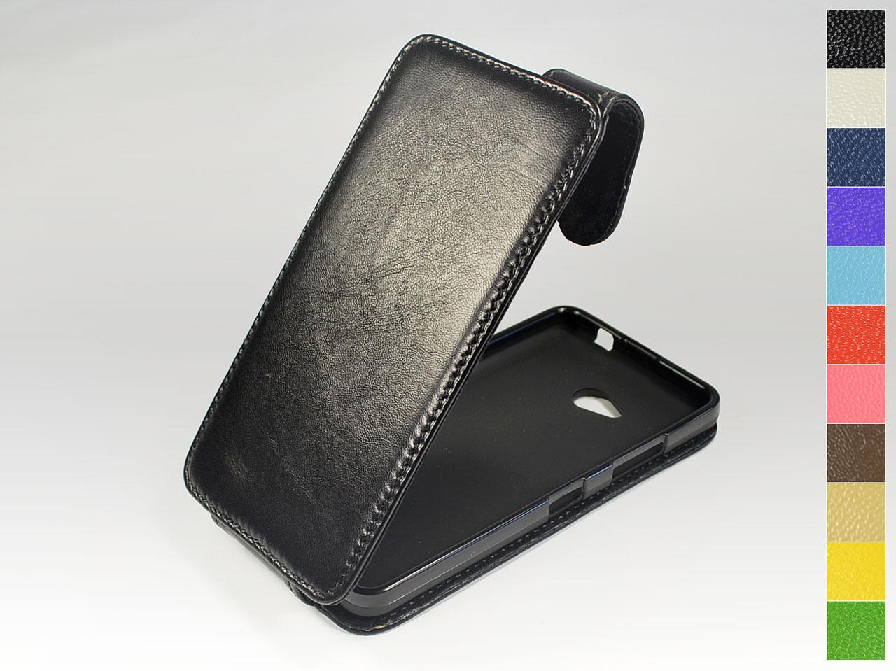 Откидной чехол из натуральной кожи для Microsoft Lumia 640