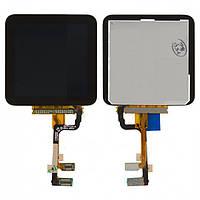 Дисплейный модуль (дисплей + сенсор) для iPod Nano 6G, черный, оригинал