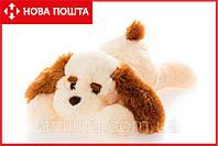 Плюшевая собака Тузик 50 см персиковый