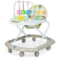 Детские ходунки M 0591-S Серый с подвесными игрушками Гарантия качества Быстрая доставка
