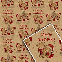 Бумага подарочная упаковочная крафтовая «Новогодняя» 533K, 70х100 см (10 листов/упаковка)