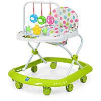 Детские ходунки BAMBI с подвесными игрушками и силиконовыми колесами M 0591-S зеленые