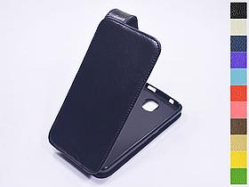 Откидной чехол из натуральной кожи для Motorola Moto C XT1750