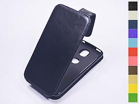 Откидной чехол из натуральной кожи для Motorola Moto C Plus XT1723