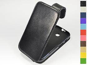 Откидной чехол из натуральной кожи для Motorola Moto E XT1022