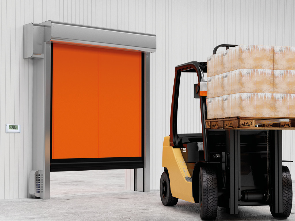 Скоростные рулонные ворота DoorHan для морозильных камер серии SpeedRoll SDC