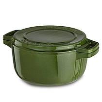 Кастрюля с крышкой-гриль, чугунная KitchenAid KCPI60CRIG Professional Cast Iron, 3,8 л, 24см