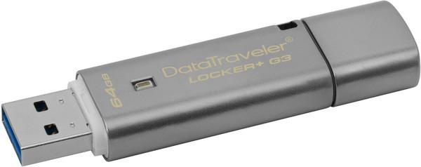 Flash Drive Kingston DT Locker+ G3 USB 3.0 64 GB