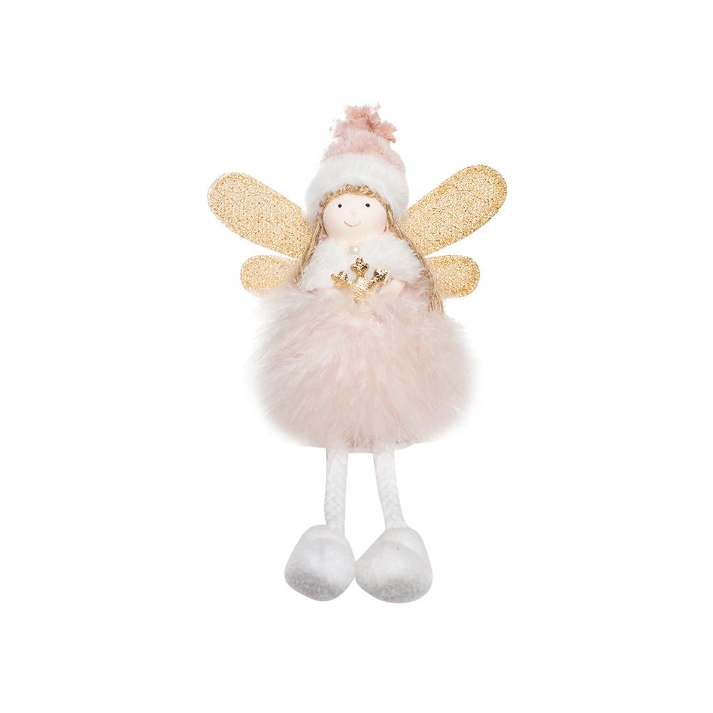 Ангел Фея розовая 20см 109390