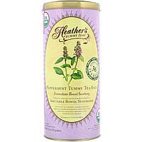 Heather's Tummy Care, Tummy Teas, органический мятный чай без кофеина в пакетиках, 36 больших пакетиков