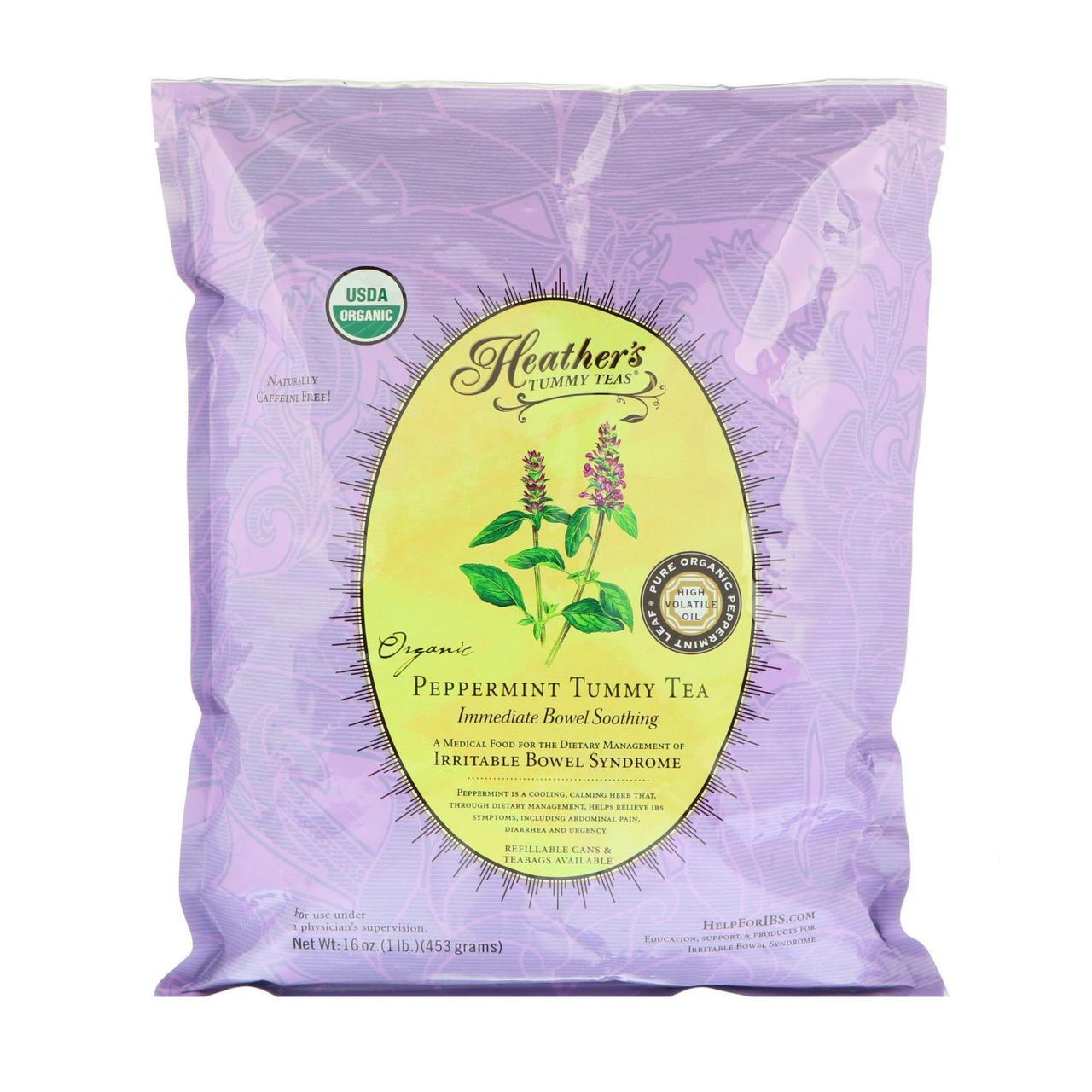 Heather's Tummy Care, Органический мтяный чай, Синдром раздраженного кишечника, без кофеина, 16 унций (453 г)