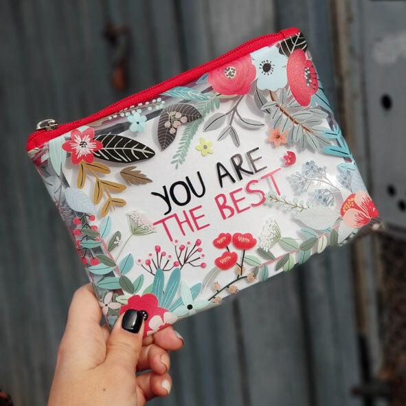 Косметичка пластикова прозора Visible You are the best (KPR_19A027_KR)
