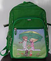 Рюкзак школьный для девочки зеленый