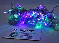 Светодиодная гирлянда 100 Led диодов 7м RGB Прозрачный провод (LED100M-1), фото 1