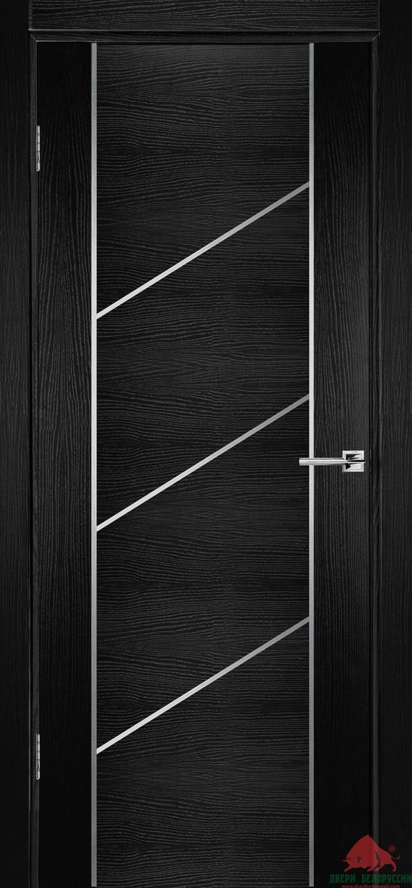 Дверь межкомнатная Двери Белоруссии Флэш 12 черный ясень ПГ