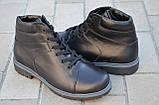 Ботинки мужские кожаные зимние и демисезонные от производителя KARMEN 533009, фото 3