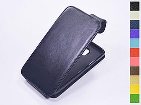 Откидной чехол из натуральной кожи для Motorola Moto E4 XT1762