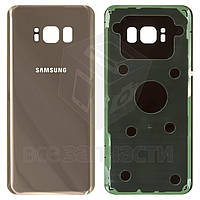 Задняя панель корпуса для Samsung G950F Galaxy S8, G950FD Galaxy S8, золотистая, Original (PRC), maple gold