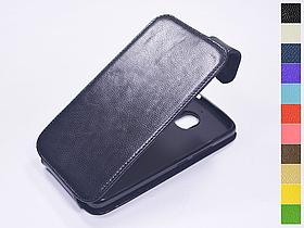 Откидной чехол из натуральной кожи для Motorola Moto E4 Plus XT1771