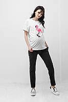 Футболка для беременных молочная 1839 1046, фото 1