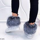 Женские зимние белые ботинки, из натуральной кожи, фото 5
