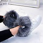 Женские зимние белые ботинки, из натуральной кожи, фото 6