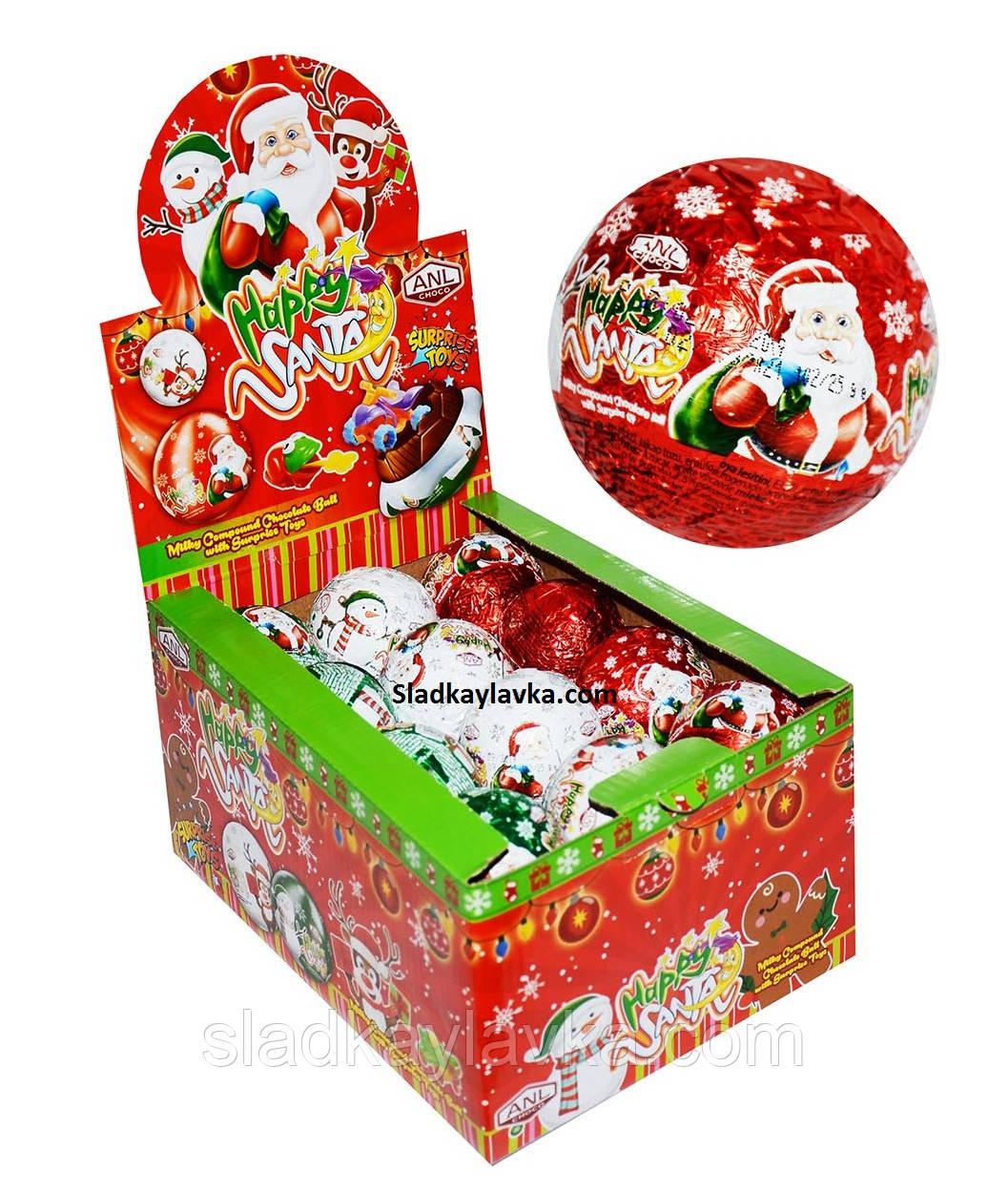 Шоколадний шар Санта 24 шт 25 г (ANL)