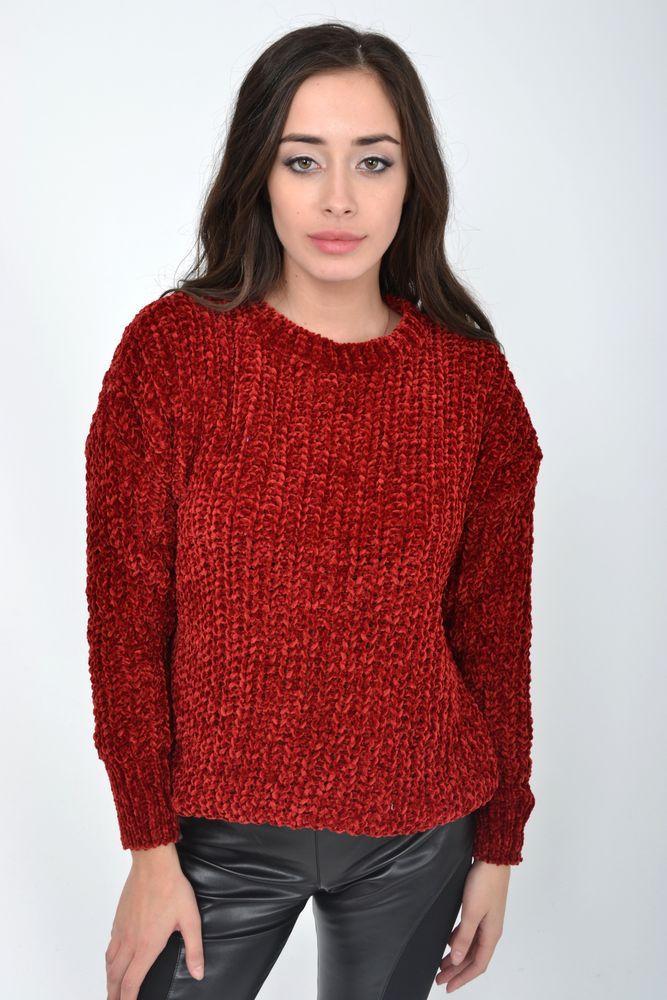 Свитер женский цвет Бордовый размер S-M