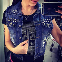 Женская джинсовая жилетка, фото 1