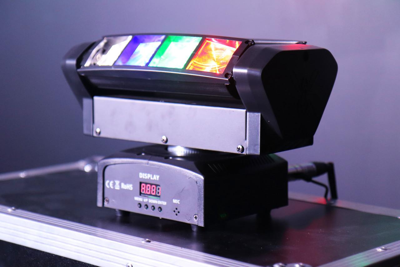 Динамический диско прибор паук Spider Moving Head 8x3 W RGBW