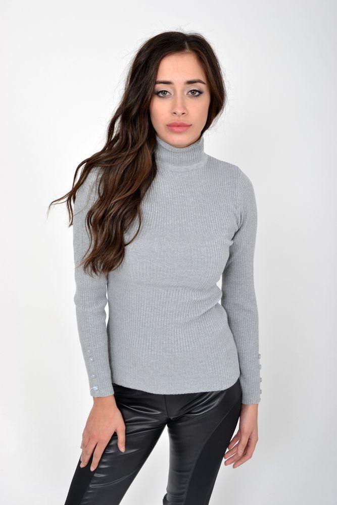 Гольф женский цвет Серый размер XS-S