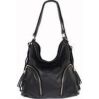 Сумка-рюкзак крутая, черная, женская.Сумочка кожзам-экокожа