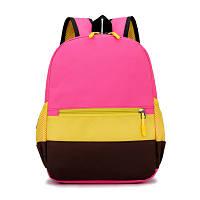Рюкзак детский - Розовый (желто-коричневые полоски)